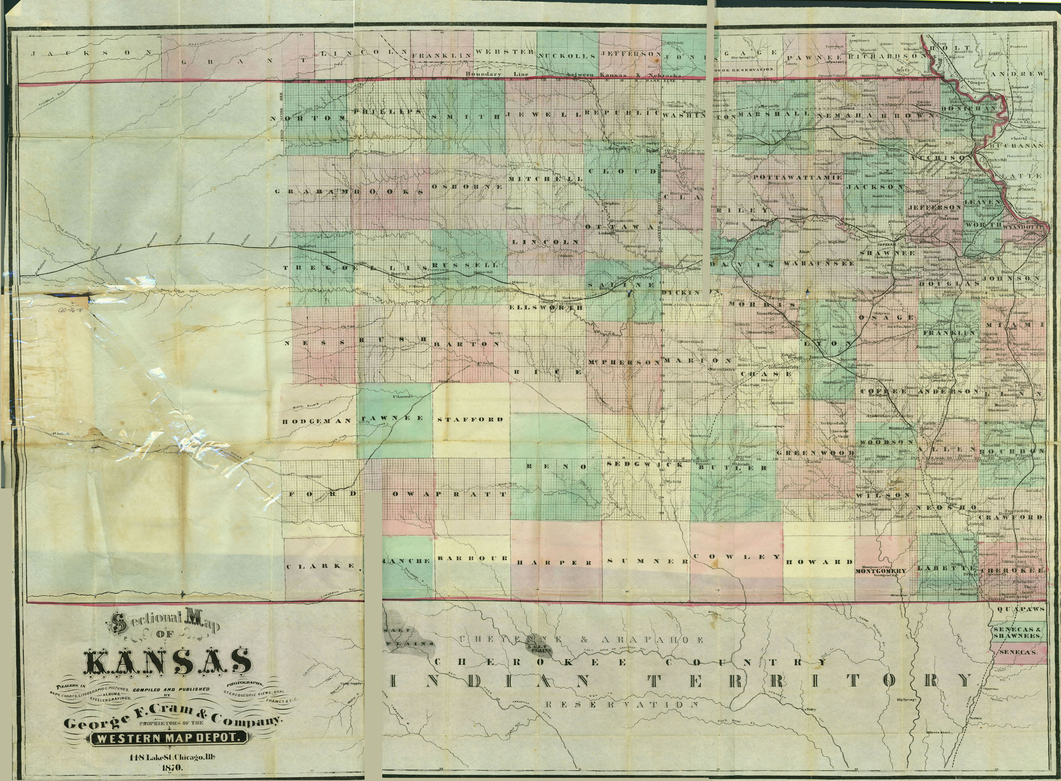 Maps at Cowley County Historical Society Museum